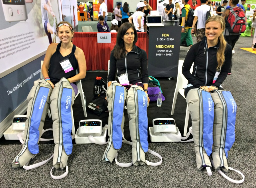 compression and massage therapy pants IDEA World Fitness Convention 1024x755